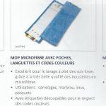 Mop Microfibres Bleu